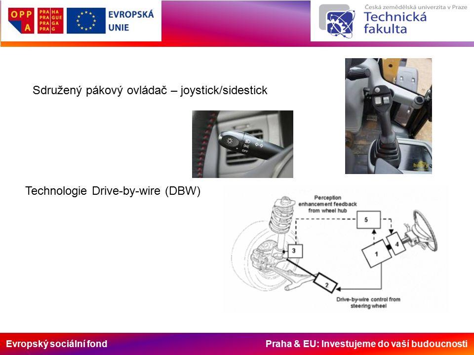 Evropský sociální fond Praha & EU: Investujeme do vaší budoucnosti Sdružený pákový ovládač – joystick/sidestick Technologie Drive-by-wire (DBW)