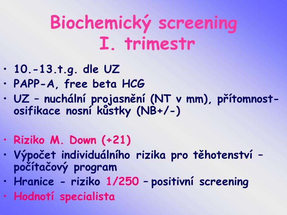 Biochemický screening I. trimestr 10.-13.t.g.
