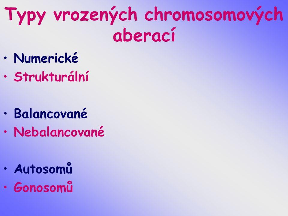 Syndrom Edwards, + 18 1/5000 novorozenců, 1/45 SA gynekotropie 4:1 SA - 95%, většinou úmrtí do 1 roku prenatálně hypotrofie plodu, UZ –VVV, atypický profil, atypické držení rukou postnatálně protáhlé patičky, protáhlé záhlaví, atypické držení rukou a prstů rukou, atypický profil obličeje, malá brada, hypotrofie, různé VVV