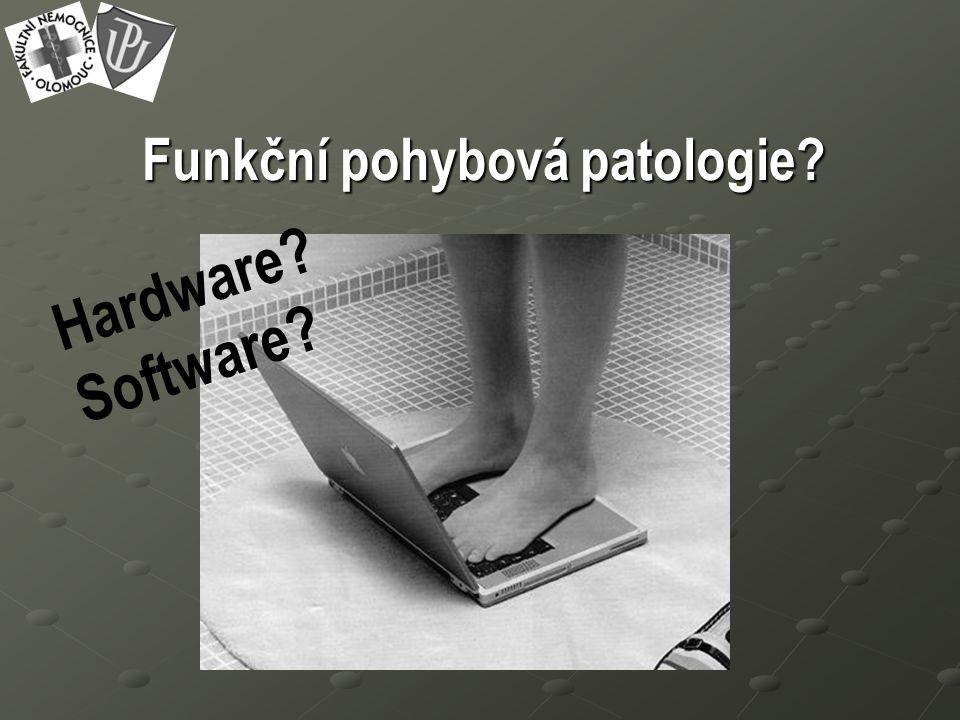 Funkční pohybová patologie Hardware Software