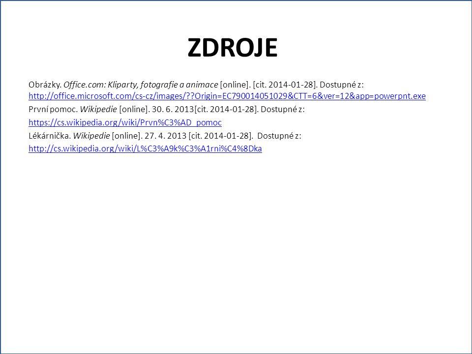 Obrázky. Office.com: Kliparty, fotografie a animace [online]. [cit. 2014-01-28]. Dostupné z: http://office.microsoft.com/cs-cz/images/??Origin=EC79001