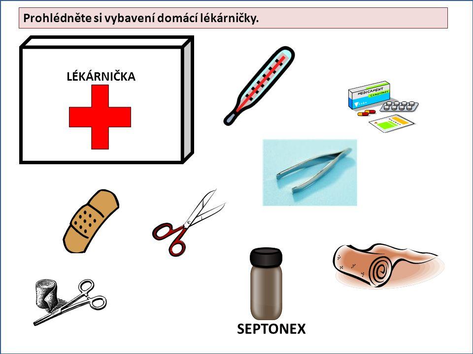 Prohlédněte si vybavení domácí lékárničky. SEPTONEX
