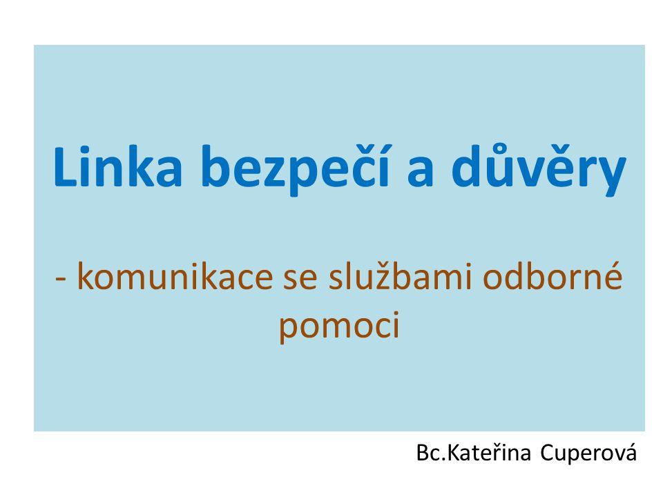 Linka bezpečí a důvěry - komunikace se službami odborné pomoci Bc.Kateřina Cuperová