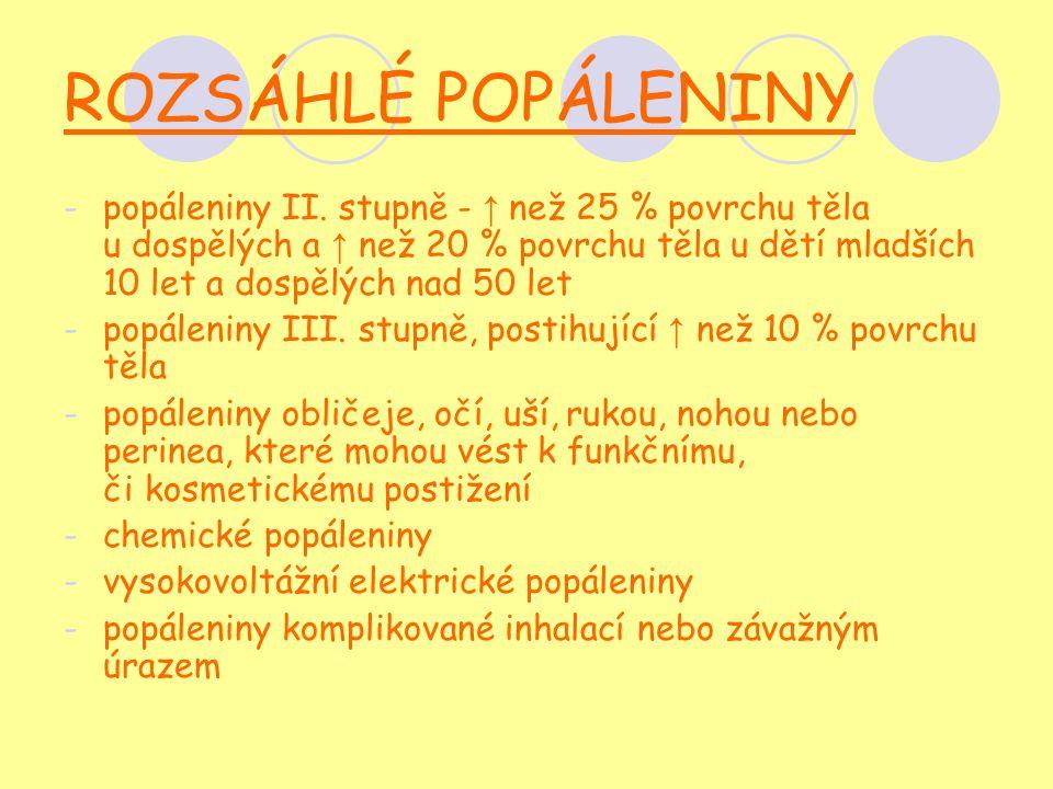 ROZSÁHLÉ POPÁLENINY -popáleniny II.