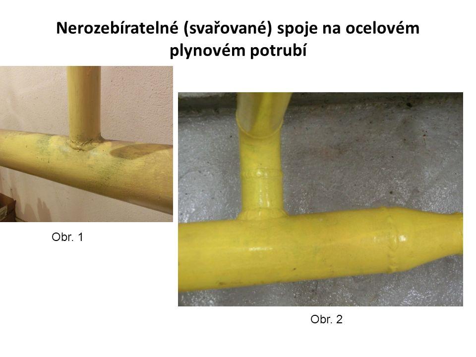 Připojení plynového kotle nerozebíratelnými a rozebíratelnými spoji Obr. 3