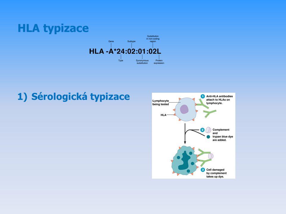 HLA typizace 1)Sérologická typizace