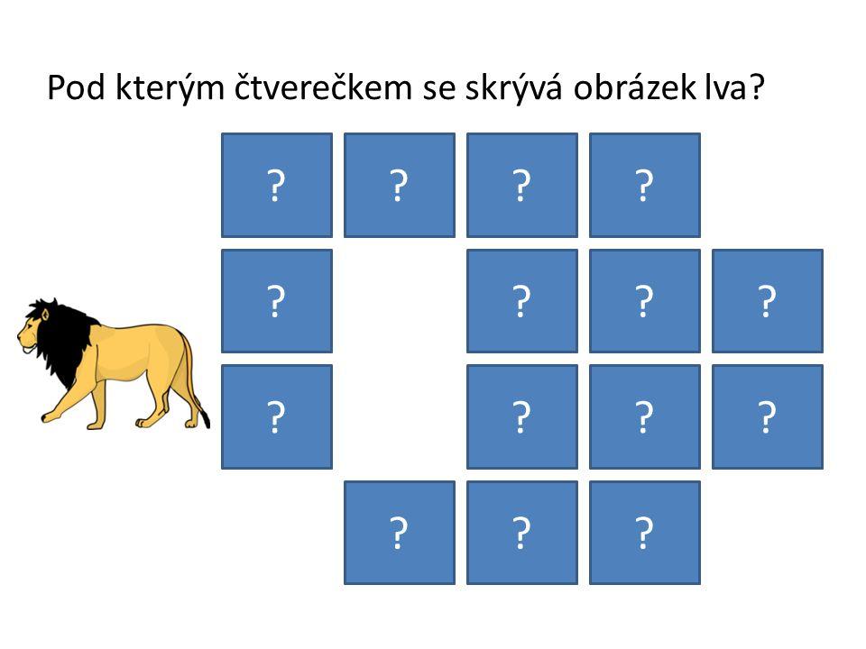 Pod kterým čtverečkem se skrývá obrázek lva