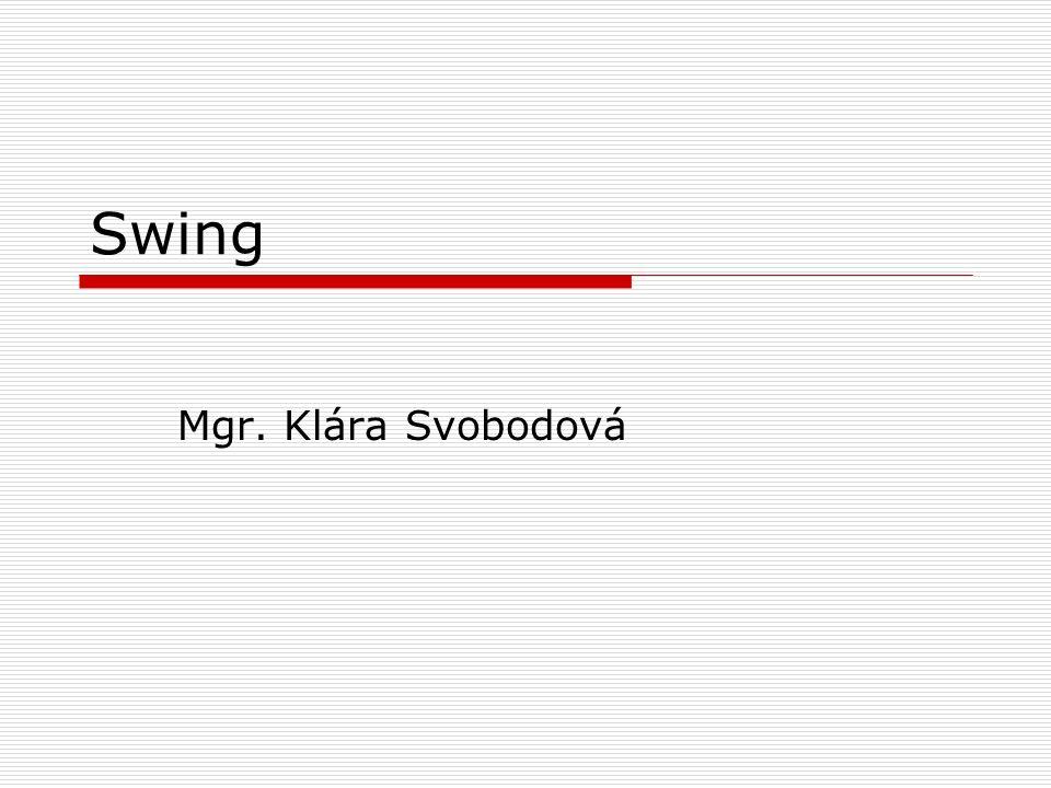 Swing Mgr. Klára Svobodová