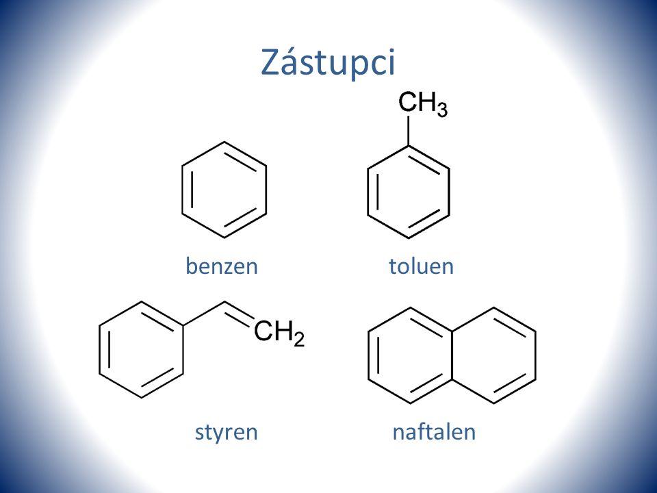 Zástupci benzentoluen styrennaftalen