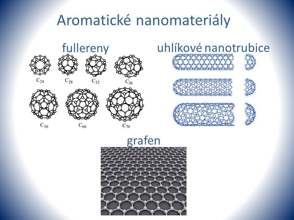 fullereny uhlíkové nanotrubice grafen Aromatické nanomateriály