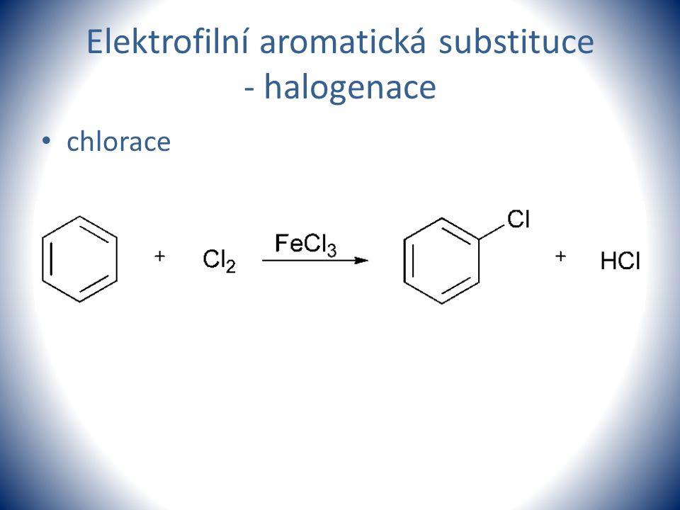 Elektrofilní aromatická substituce - halogenace chlorace