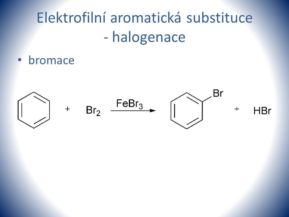 Elektrofilní aromatická substituce - halogenace bromace