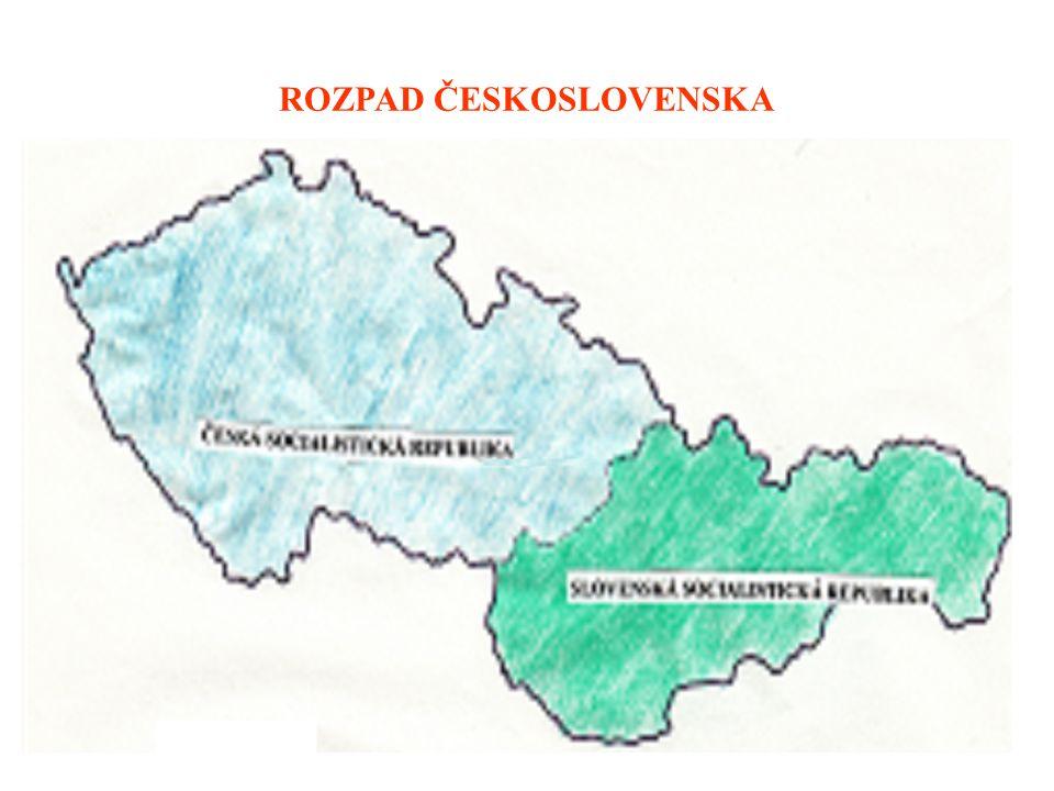 Kdy došlo k rozpadu Československa? Na jaké státy se rozpadlo? ………………………………………………………………… 1.1. 1993