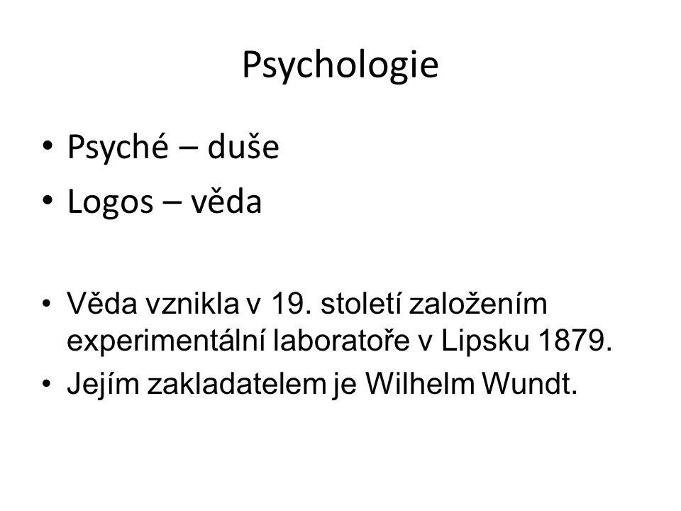 Předmět psychologie: Věda o chování Věda o prožívání