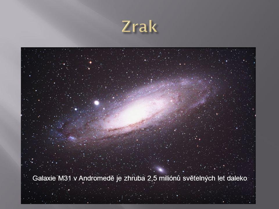 Galaxie M31 v Andromedě je zhruba 2,5 miliónů světelných let daleko