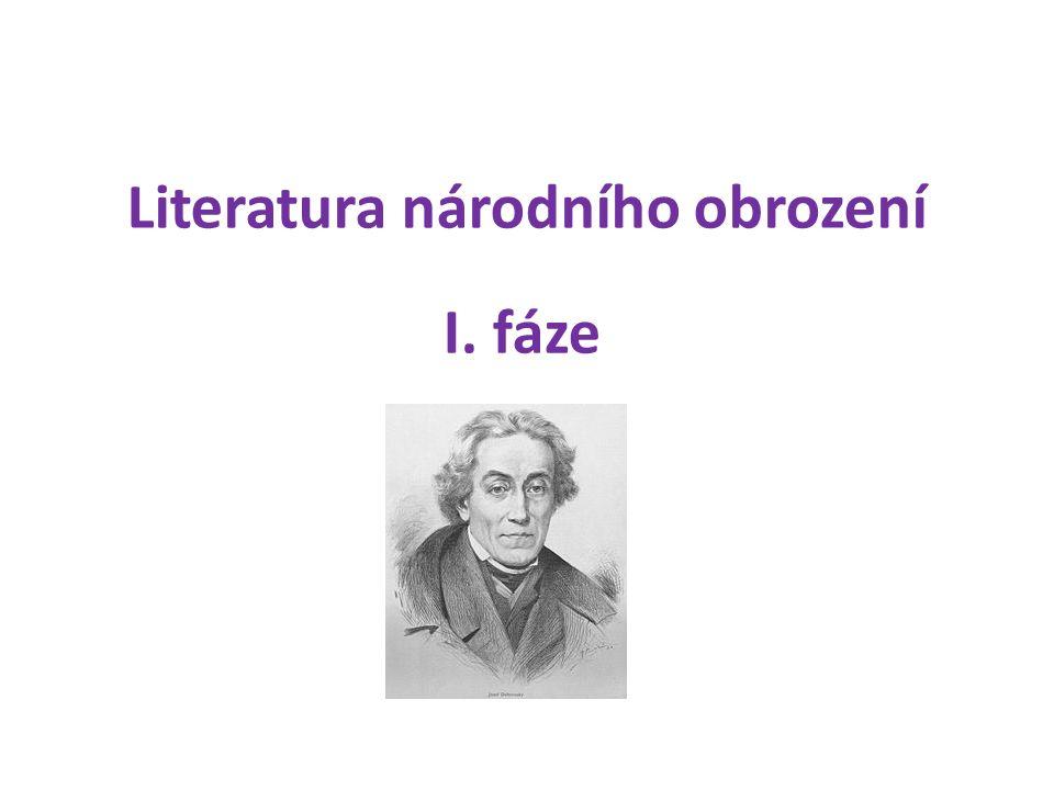 Literatura národního obrození I. fáze