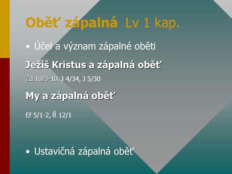 Přídavná oběť Lv 2 kap.