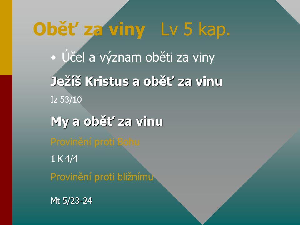 Oběť za hřích Lv 4 kap.