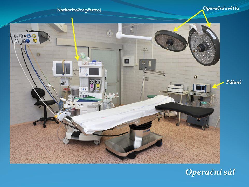 Operační sál Operační světla Pálení Narkotizační přístroj