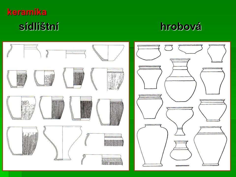 keramika sídlištní hrobová