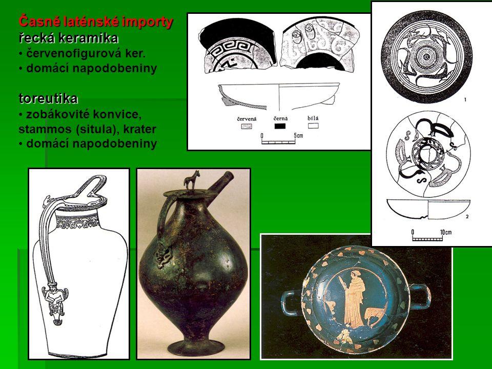 Časně laténské importy řecká keramika červenofigurová ker.