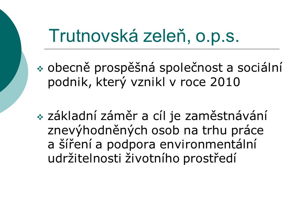 Trutnovská zeleň, o.p.s.
