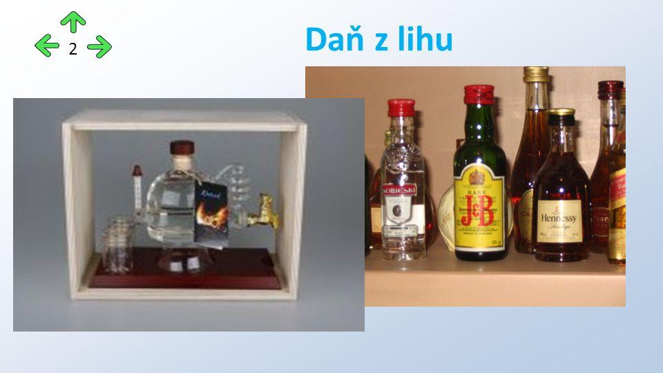 Spotřební daň z jedné 0,5 litrové lahve konzumního lihu s 80 % etanolu Daň z lihu - příklady 13