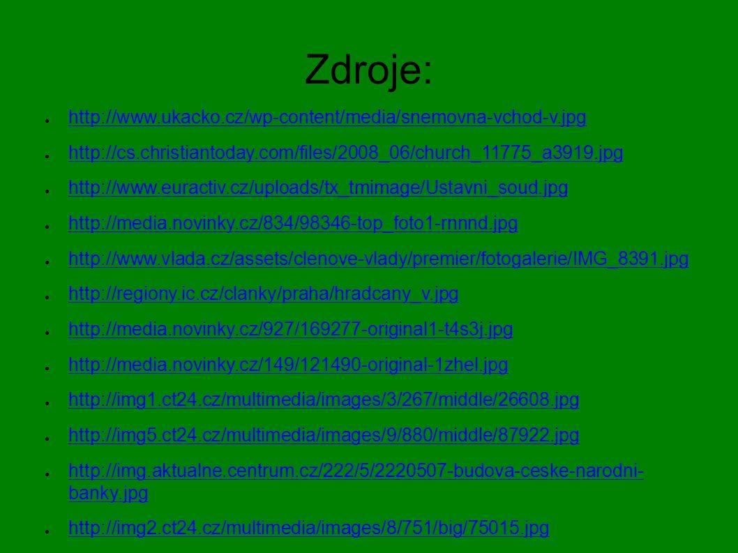 Zdroje: ● http://www.ukacko.cz/wp-content/media/snemovna-vchod-v.jpg http://www.ukacko.cz/wp-content/media/snemovna-vchod-v.jpg ● http://cs.christiant