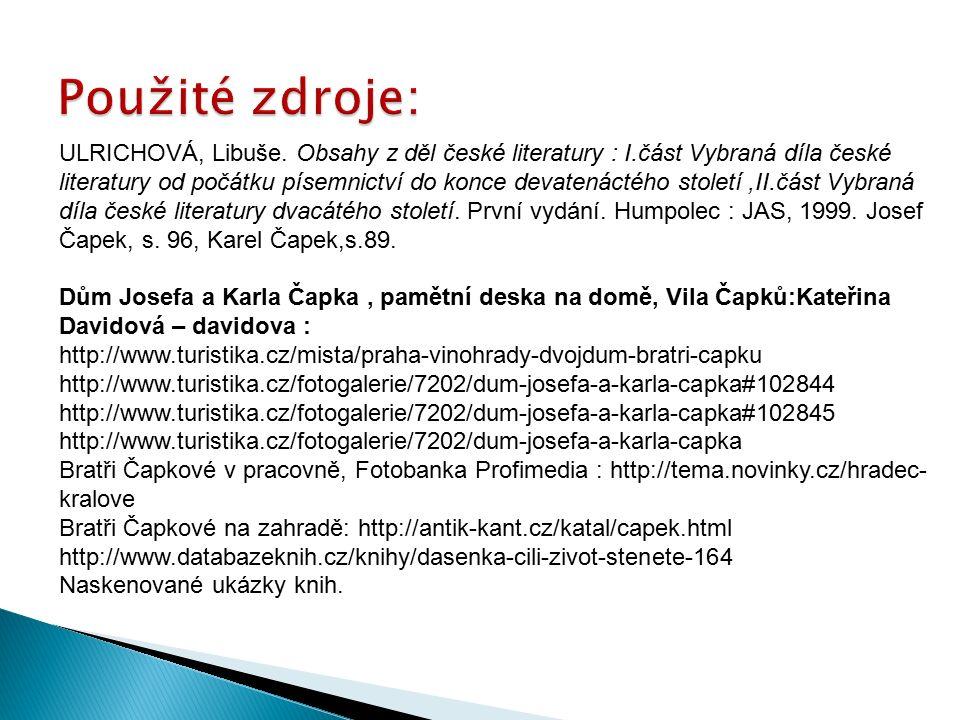 ULRICHOVÁ, Libuše.