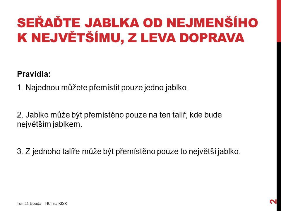 Tomáš Bouda HCI na KISK 13