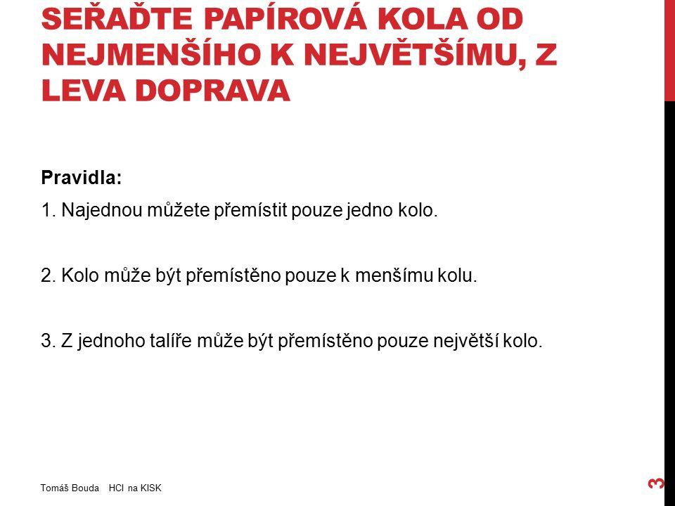 ŠPATNÉ REPREZENTACE JSOU DOCELA ČASTÉ Tomáš Bouda HCI na KISK 34