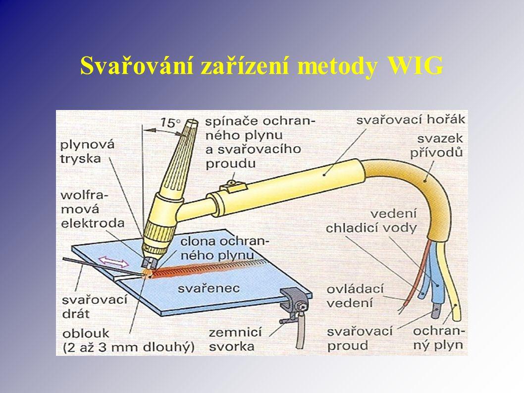 Svařování zařízení metody WIG