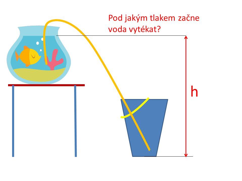 h Pod jakým tlakem začne voda vytékat