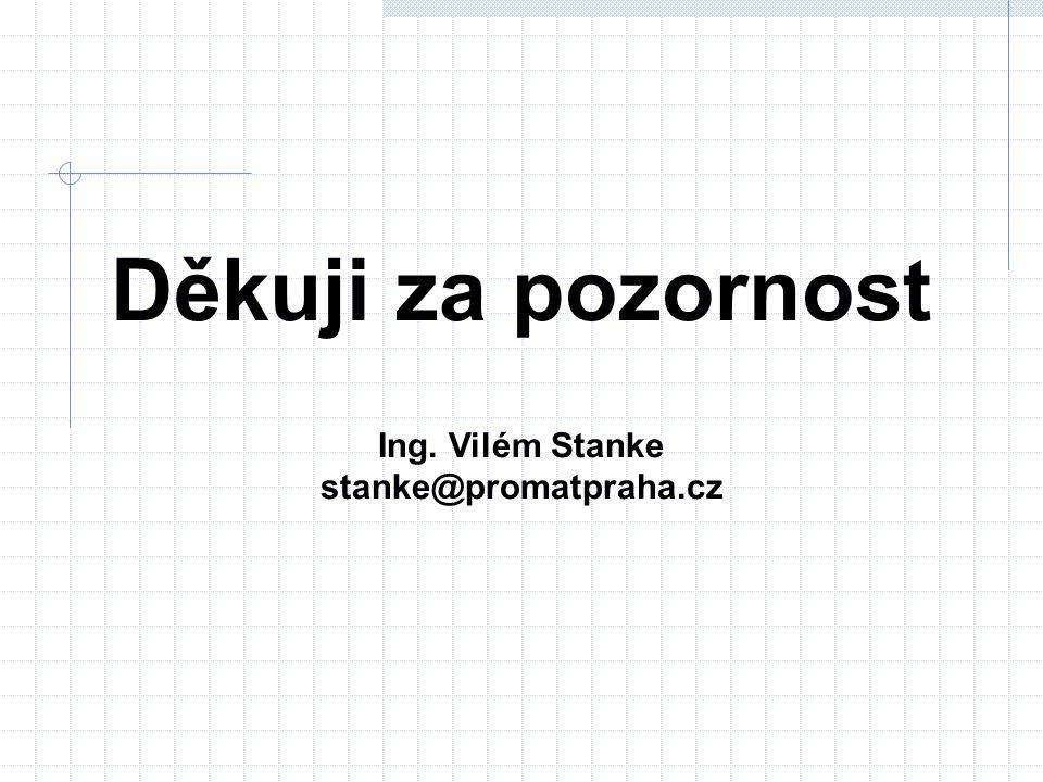 Děkuji za pozornost Ing. Vilém Stanke stanke@promatpraha.cz