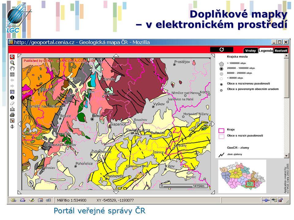 Doplňkové mapky – v elektronickém prostředí Portál veřejné správy ČR