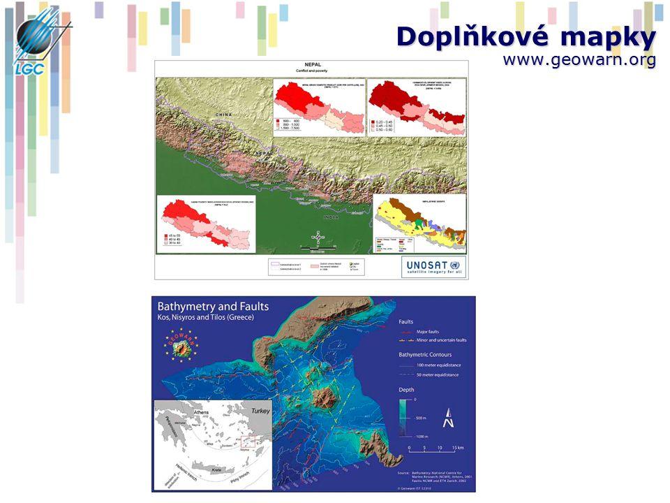 Doplňkové mapky www.geowarn.org
