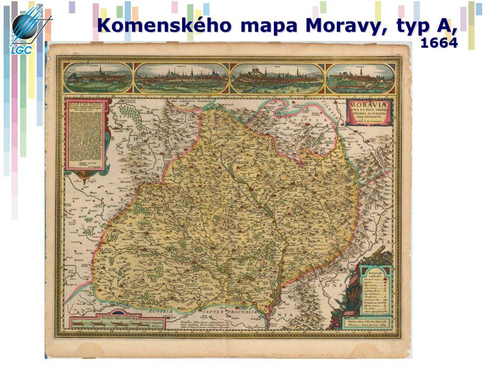 Komenského mapa Moravy, typ A, 1664