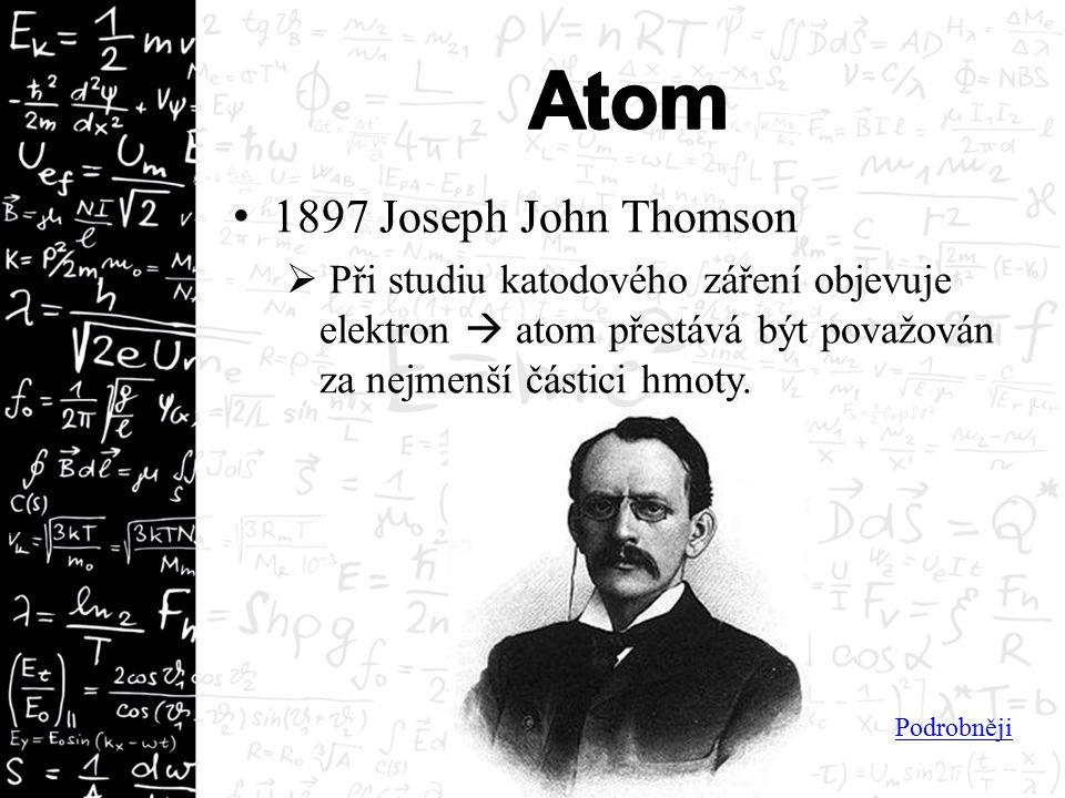 """Thomsonův model atomu """"pudinkový ."""