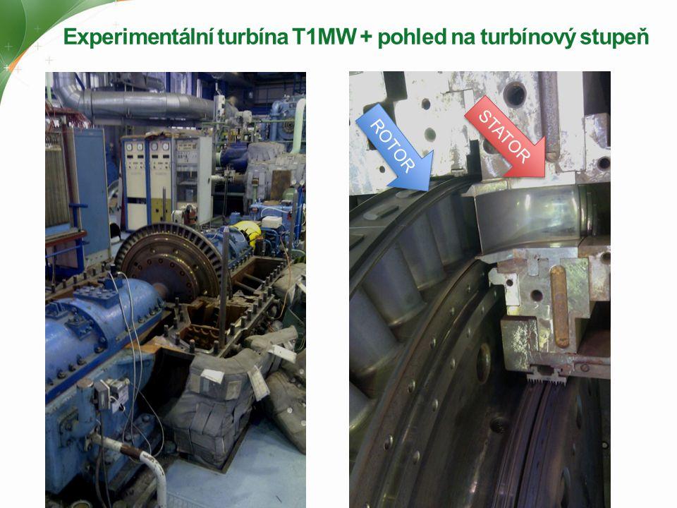 Experimentální turbína T1MW + pohled na turbínový stupeň ROTOR STATOR
