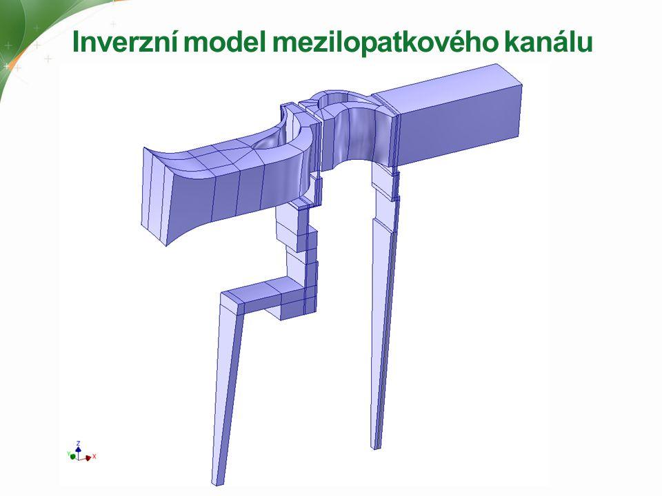 Inverzní model mezilopatkového kanálu