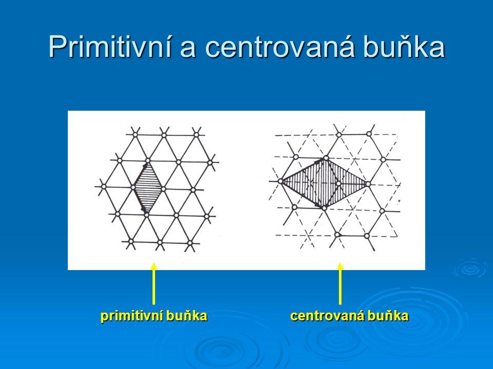 Primitivní a centrovaná buňka primitivní buňka centrovaná buňka