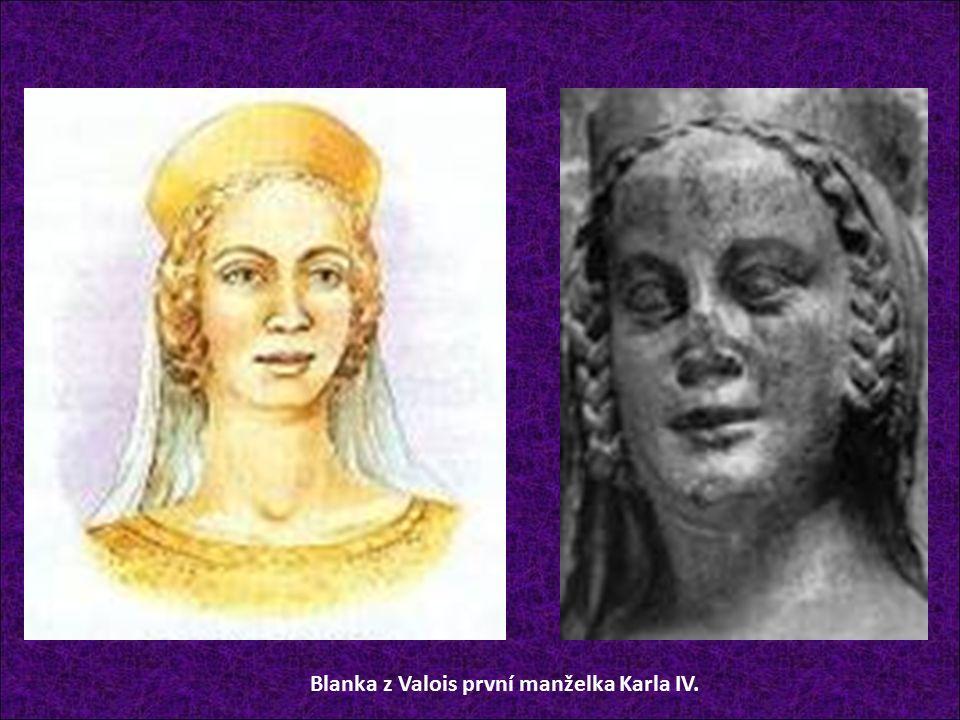 Blanka z Valois první manželka Karla IV.