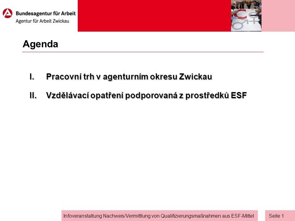 Seite 0 Informační akce Osvědčení/Účast na rekvalifikačních opatřeních podporovaných z prostředků Evropského sociálního fondu Stefan Auerbach (pověřený rovností šancí na pracovním trhu) Informační akce Osvědčení/Účast na vzdělávacích opatřeních podporovaných z prostředků Evropského sociálního fondu