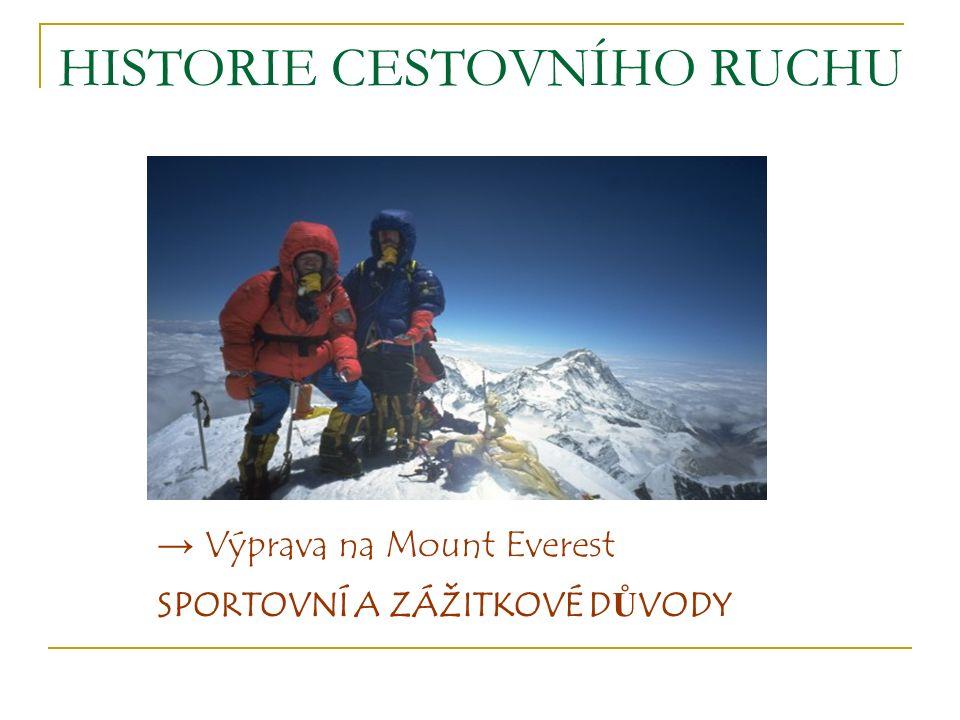 → Výprava na Mount Everest SPORTOVNÍ A ZÁŽITKOVÉ D Ů VODY