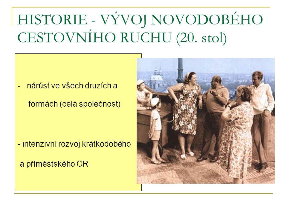 HISTORIE - VÝVOJ NOVODOBÉHO CESTOVNÍHO RUCHU (20.