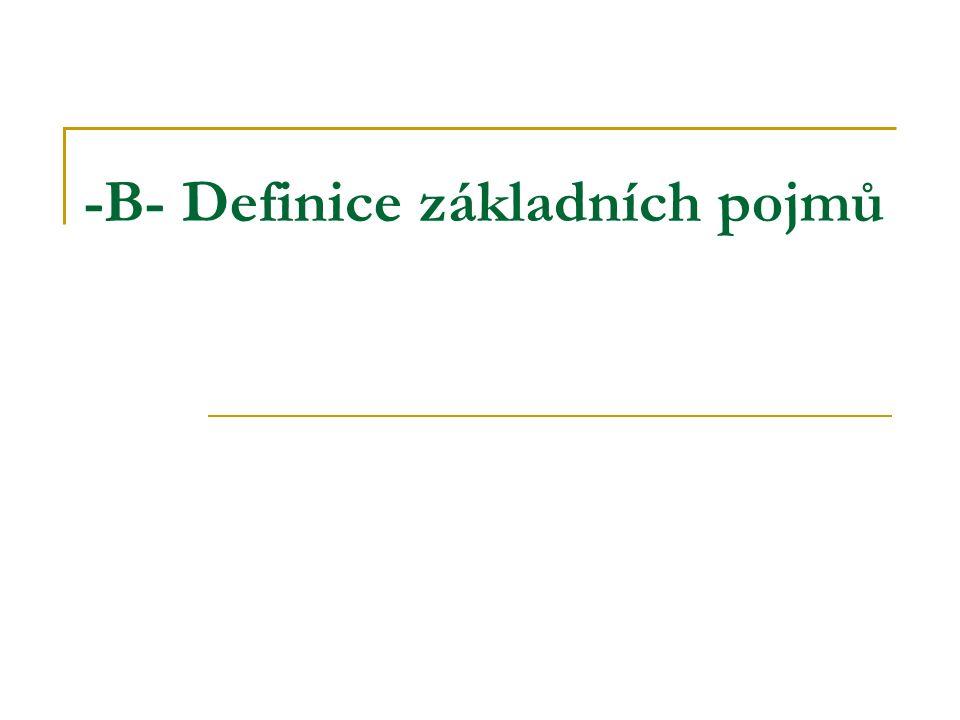 -B- Definice základních pojmů