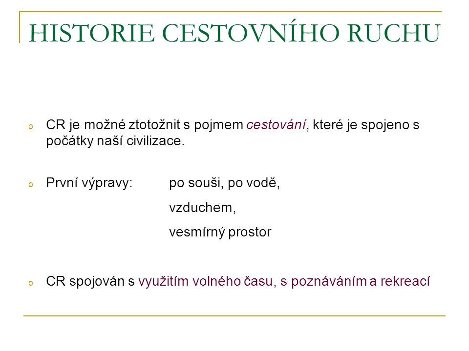 HISTORIE CESTOVNÍHO RUCHU - rozvoj v masové formě v 2.