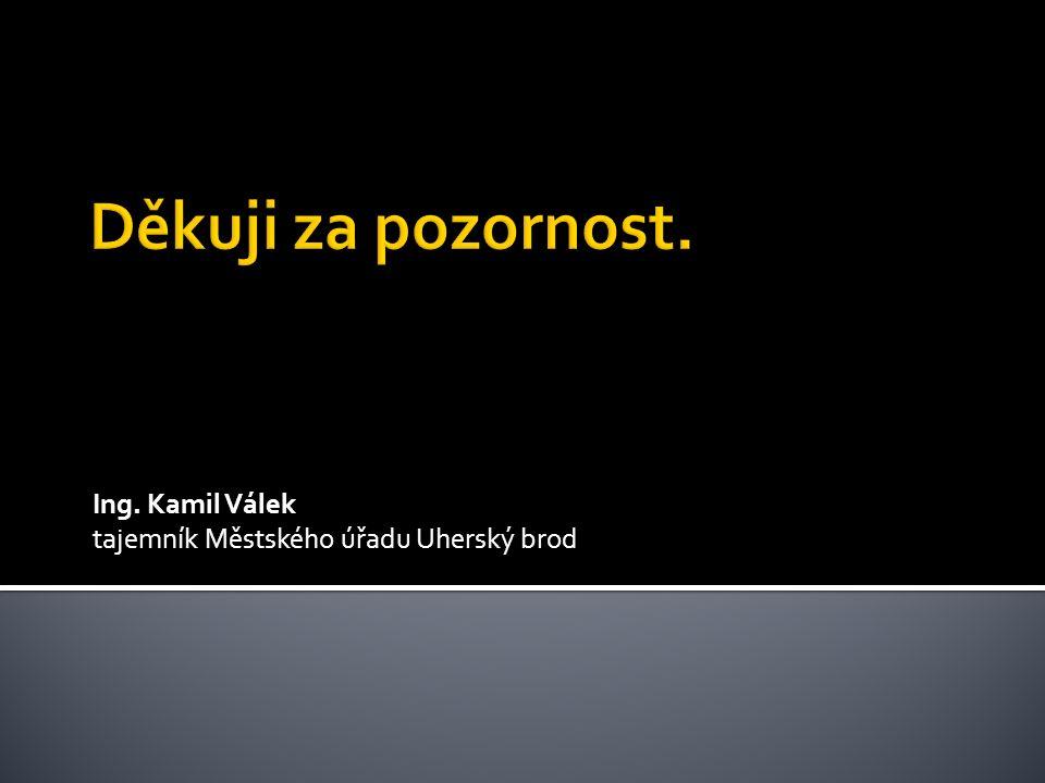 Ing. Kamil Válek tajemník Městského úřadu Uherský brod