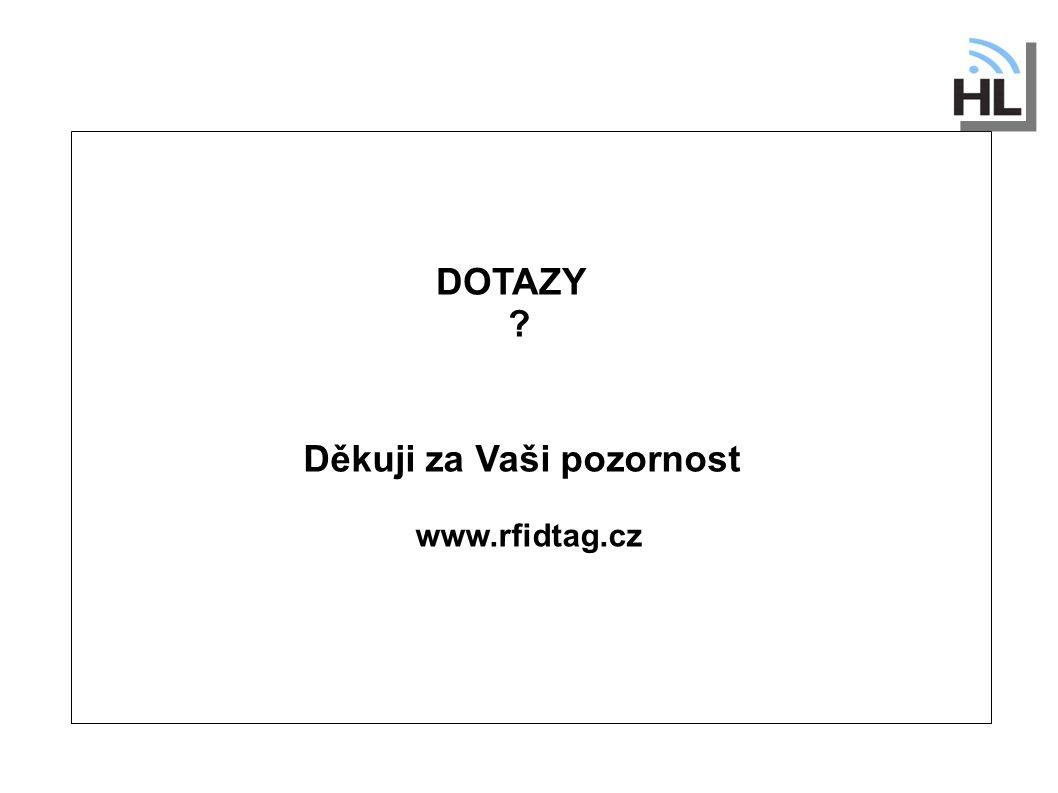 Děkuji za Vaši pozornost www.rfidtag.cz DOTAZY