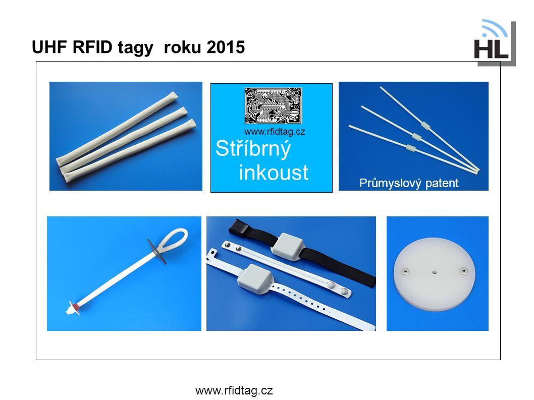 UHF RFID tagy roku 2015 www.rfidtag.cz Stříbrný inkoust Průmyslový patent